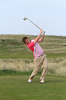 Gary Collins (Rosslare) on the 15th tee during round 2 of The West of Ireland Amateur Open in Co. Sligo Golf Club on Saturday 19th April 2014.<br /> Picture:  Thos Caffrey / www.golffile.ie
