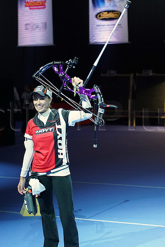 17.01.2016. Nimes, France. The Arc club Nimes Indoor World Championships of Archery.  Ochoa Anderson Linda (MEX)