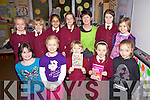 Irish Author Ro?isi?n Meaney originaly from Listowel, now living in Limerick took some time out from writing this week to give some creative writing workshops and storytelling to the boys & girls in Cahersiveen, pictured here with the girls in St Josephs N.S. front l-r; Pamela O'Connor, Sophie Daly-Wilson, Maura Mahony, Aine O'Connor, Leah Murphy, back l-r; Cara Murphy, Megan Mahony, Amritpreet Kaur, Cara O'Shea, Ro?isi?n Meaney, Ellie O'Connell & Isabel O'Connor.  Ro?isi?n is currently working on her third childrens novel 'Polly & The Bean Stalk' and her 8th novel 'The Things We Do For Love'.  'Love iin the Making' will be released iin the USA next April.