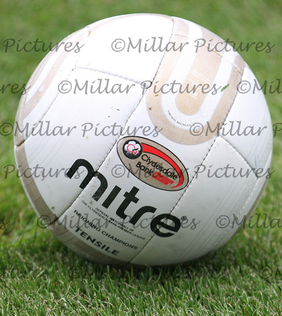 The Mitre match ball inscribed that Rangers are the current Scottish  Premier League Champions