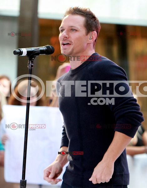 August 17, 2012 Drew Lachey 98 Degrees perform on the NBC's Today Show Toyota Concert Serie at Rockefeller Center in New York City.Credit:© RW/MediaPunch Inc. /NortePhoto.com<br />