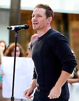 August 17, 2012 Drew Lachey 98 Degrees perform on the NBC's Today Show Toyota Concert Serie at Rockefeller Center in New York City.Credit:&copy; RW/MediaPunch Inc. /NortePhoto.com<br />