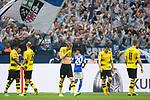 15.04.2018, VELTINS Arena, Gelsenkirchen, Deutschland, GER, 1. FBL, FC Schalke 04 vs. Borussia Dortmund, im Bild Michy Batshuayi (#44 Dortmund), Oemer Toprak (#36 Dortmund), Andre Sch&uuml;rrle / Schuerrle (#21 Dortmund), Sokratis Papastathopoulos (#25 Dortmund), Marco Reus (#11 Dortmund) entt&auml;uscht / enttaeuscht / traurig nach 2-0 Schalke<br /> <br /> Foto &copy; nordphoto / Kurth