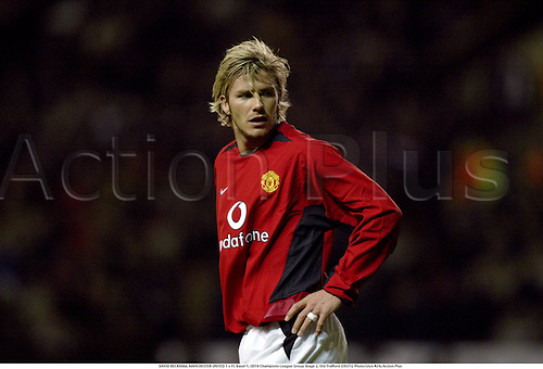DAVID BECKHAM, MANCHESTER UNITED 1 v FC Basel 1, UEFA Champions League Group Stage 2, Old Trafford 030312 Photo:Glyn Kirk/Action Plus...2003.Soccer Football utd portrait