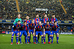 Players of FC Barcelona line up and pose for a photo prior to their La Liga match between Villarreal and FC Barcelona at the Estadio de la Cerámica on 08 January 2017 in Villarreal, Spain. Photo by Maria Jose Segovia Carmona / Power Sport Images
