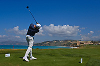 Alexander Knappe (GER) on the16th tee during Round 2 of the Rocco Forte Sicilian Open 2018 on Friday 11th May 2018.<br /> Picture:  Thos Caffrey / www.golffile.ie<br /> <br /> All photo usage must carry mandatory copyright credit (&copy; Golffile | Thos Caffrey)