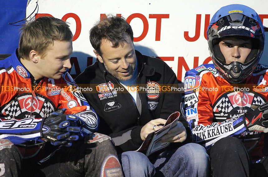 (From left) Kylmakorpi, Douglas, Hefenbrock - Lakeside Hammers vs Oxford Cheetahs - Sky Sports Elite League at Arena Essex, Purfleet - 28/04/07- MANDATORY CREDIT: Gavin Ellis/TGSPHOTO - IMAGES USED WILL BE INVOICED AT STANDARD RATES..