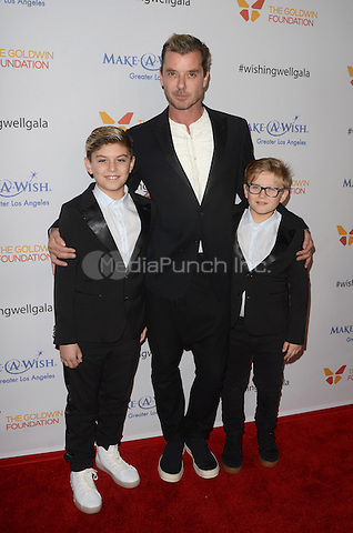 LOS ANGELES, CA - DECEMBER 07: Kingston Rossdale, Gavin Rossdale and Zuma Nesta Rock Rossdale at the 4th Annual Wishing Well Winter Gala on December 07, 2016 in Los Angeles, California. Credit: David Edwards/MediaPunch
