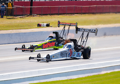 NHRA Mello Yello Drag Racing Series<br /> Lucas Oil NHRA Southern Nationals<br /> Atlanta Dragway, Commerce, GA USA<br /> Sunday 7 May 2017 Troy Coughlin Jr, SealMaster, Antron Brown, Matco Tools, top fuel dragster<br /> <br /> World Copyright: Mark Rebilas<br /> Rebilas Photo