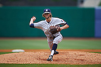 San Antonio Missions pitcher Adam Cimber (1) delivers a pitch during a game against the NW Arkansas Naturals on May 30, 2015 at Arvest Ballpark in Springdale, Arkansas.  San Antonio defeated NW Arkansas 5-1.  (Mike Janes/Four Seam Images)
