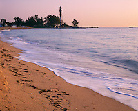 Broward  County, FL  <br /> Hillsboro Inlet Lighthouse (1906) stands across the Intercoastal Waterway at Pompano Beach