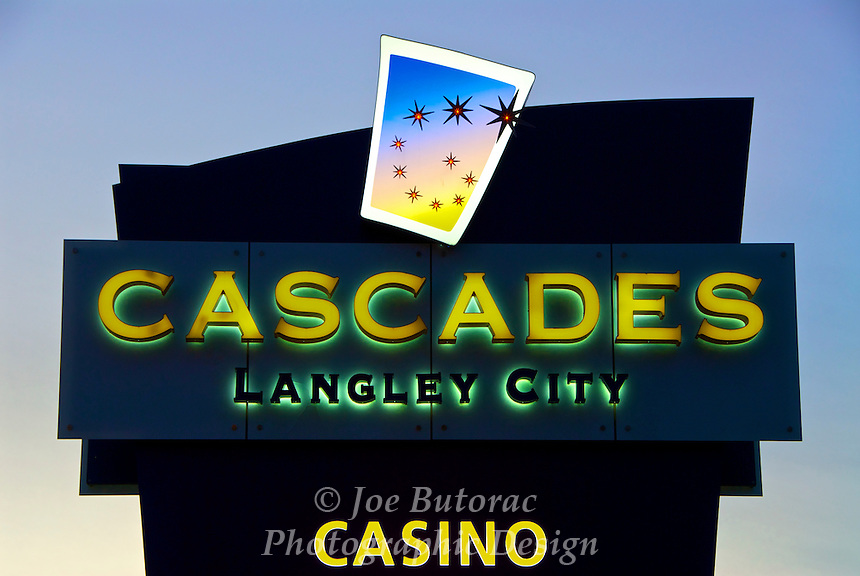 Cascades Casino Coast Hotel & Convention Centre Show Lounge Sign, Langley City