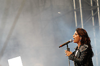 SÃO PAULO,SP, 07.11.2015 - FESTIVAL-PROMESSAS - Aline Barros durante o Festival Promessas 2015, que acontece no Campo de Marte, zona norte de São Paulo, neste sábado, 7. (Foto: Douglas Pingituro/Brazil Photo Press)