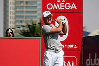 Richard Sterne (RSA) tees off on the 9th tee during Saturday's  Round 3 of the 2012 Omega Dubai Desert Classic at Emirates Golf Club Majlis Course, Dubai, United Arab Emirates, 11th February 2012(Photo Eoin Clarke/www.golffile.ie)