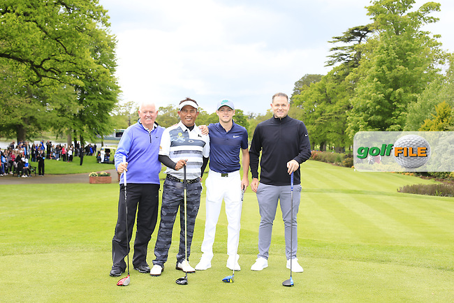 Thongchai Jaidee (THA) team during Wednesday's Pro-Am of the 2016 Dubai Duty Free Irish Open hosted by Rory Foundation held at the K Club, Straffan, Co.Kildare, Ireland. 18th May 2016.<br /> Picture: Eoin Clarke | Golffile<br /> <br /> <br /> All photos usage must carry mandatory copyright credit (&copy; Golffile | Eoin Clarke)