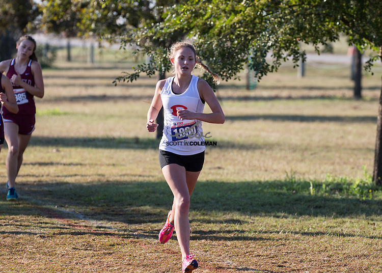 Nicole Penick of Fredericksburg High School runs in the Girls Class 4A UIL Cross Country State Championships at Old Settlers Park in Round Rock, Texas, on November 12, 2016.