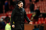 Norwich City manager Daniel Farke looks dejected during the Premier League match at Old Trafford, Manchester. Picture date: 11th January 2020. Picture credit should read: James Wilson/Sportimage