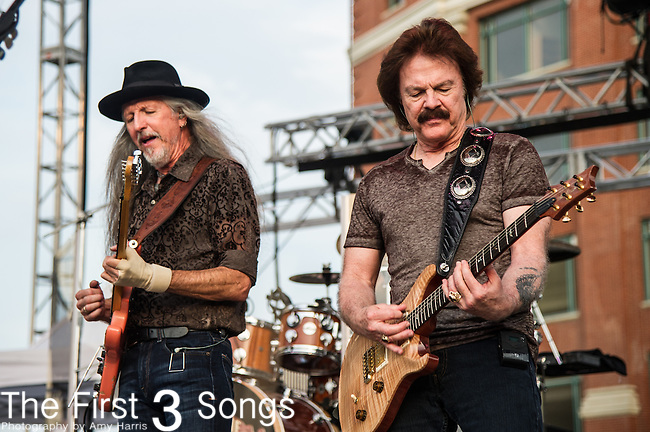 Tom Johnston and Patrick Simmons of the The Doobie Brothers performs at the Horseshoe Casino in Cincinnati, Ohio.