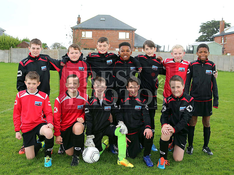 Drogheda Town Falcons U13 ahead of their match against Termonfeckin FC at Termonfeckin FC <br /> <br /> <br /> Photo - Jenny Matthews
