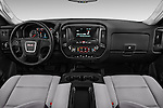 Stock photo of straight dashboard view of 2016 GMC Sierra-2500HD 2WD-Regular-Cab-Long-Box 2 Door Pick-up Dashboard