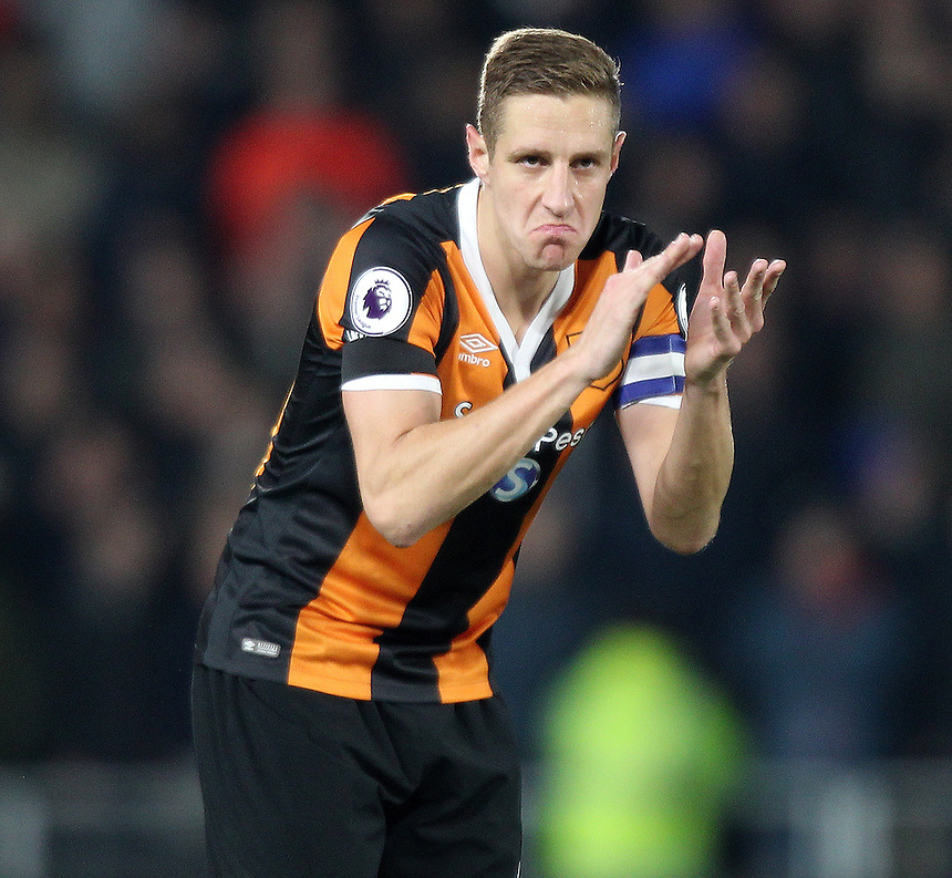Hull City's Michael Dawson<br /> <br /> Photographer /Mick Walker CameraSport<br /> <br /> The EFL Cup Quarter Final - Hull City v Newcastle United - Tuesday 29th November 2016 - The KCOM Stadium - Hull<br />  <br /> World Copyright &copy; 2016 CameraSport. All rights reserved. 43 Linden Ave. Countesthorpe. Leicester. England. LE8 5PG - Tel: +44 (0) 116 277 4147 - admin@camerasport.com - www.camerasport.com
