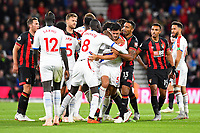 Cheikhou Kouyate of Crystal Palace and Callum Wilson of AFC Bournemouth restrain James Tomkins of Crystal Palace after an altercation with Simon Francis of AFC Bournemouth left  during AFC Bournemouth vs Crystal Palace, Premier League Football at the Vitality Stadium on 1st October 2018