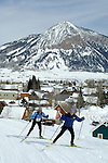 Skate skiing around Crested Butte, Colorado.