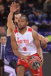 League ACB-ENDESA 2017/2018 - Game: 20.<br /> FC Barcelona Lassa vs Retabet Bilbao Basket: 90-58.<br /> Jonathan Tabu vs Pau Ribas.