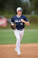 Slade Wilks (15) during the WWBA World Championship at the Roger Dean Complex on October 10, 2019 in Jupiter, Florida.  Slade Wilks attends Columbia Academy in Columbia, MS and is committed to Southern Miss.  (Mike Janes/Four Seam Images)