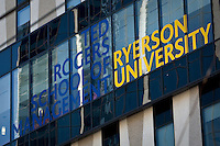 The Ryerson University Ted Rogers School of Management is pictured in Toronto April 19, 2010. The Ted Rogers School of Management is Located on Bay Street in Toronto's financial distric and houses Canada's largest undergraduate management program, along with several graduate programs.