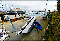BNPS.co.uk (01202 558833)<br /> Pic: GrahamHunt/BNPS<br /> <br /> A tragic yachtsman was crushed to death under his own boat as he painted its hull, an inquest heard.<br /> <br /> Company director Kevin Keeler, 56, was working beneath the 29ft sailing yacht at a boat yard when a metal frame support it was on gave way.<br /> <br /> The half-ton vessel toppled onto the father-of-five who suffered devastating and fatal crush injuries including multiple broken ribs, sternum and spine.