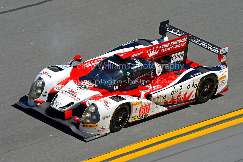 28-31 January, 2016, Daytona Beach, Florida USA<br /> 60, Honda HPD, Ligier JS P2, P, John Pew, Oswaldo Negri, Jr., AJ Allmendinger, Olivier Pla<br /> &copy;2016, F. Peirce Williams
