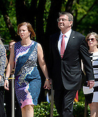 United States Secretary of Defense Ash Carter and his wife Stephanie Carter attend a Memorial Day event at Arlington National Cemetery, May 25, 2015 in Arlington, Virginia. <br /> Credit: Olivier Douliery / Pool via CNP