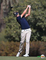 Ben Evans (ENG) in action during the Final Round of the 2016 Omega Dubai Desert Classic, played on the Emirates Golf Club, Dubai, United Arab Emirates.  07/02/2016. Picture: Golffile | David Lloyd<br /> <br /> All photos usage must carry mandatory copyright credit (&copy; Golffile | David Lloyd)