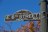 Historic Sixth Street Sign in Austin, Texas