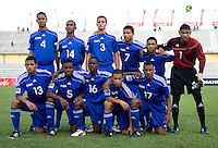 Cuba lines up before the game during the first day of the group stage at the CONCACAF Men's Under 17 Championship at Catherine Hall Stadium in Montego Bay, Jamaica. The United States defeated Cuba, 3-1.