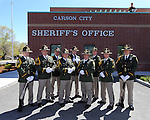 The Carson City Sheriff's Honor Guard poses before a flag pole dedication ceremony at the Carson City Sheriff's Office in Carson City, Nev., on Wednesday, April 24, 2013. .Photo by Cathleen Allison