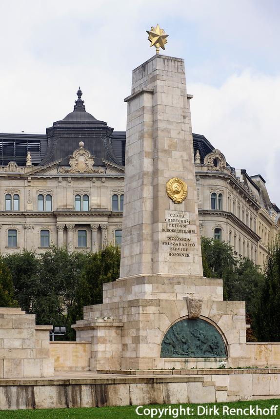 Sowjetisches Ehrenmal am Szabadság tér, Budapest, Ungarn