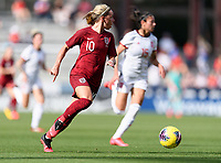 FRISCO, TX - MARCH 11: Jordan Nobbs #10 of England looks to pass the ball during a game between England and Spain at Toyota Stadium on March 11, 2020 in Frisco, Texas.