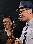 DC Stage, Kaohsiung -- Vocalist Jack Yeh and bassist Samuel Liu during a performance of SMALLS JAZZ COMBO.