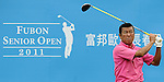 TAIPEI, TAIWAN - NOVEMBER 19:  Taki Yashushi of Japan tees off on the 10th hole during day two of the Fubon Senior Open at Miramar Golf & Country Club on November 19, 2011 in Taipei, Taiwan.  Photo by Victor Fraile / The Power of Sport Images