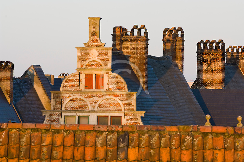 Belgium, Ghent, Gabled roofs