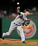 29 September 2009: New York Mets' starting pitcher Mike Pelfrey on the mound against the Washington Nationals at Nationals Park in Washington, DC. The Nationals rallied to defeat the Mets 4-3 in the second game of their final 3-game home series. Mandatory Credit: Ed Wolfstein Photo