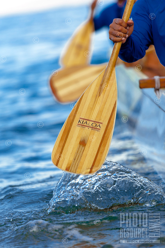 Ourigger Canoe Paddlers-Detail