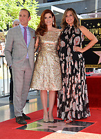 Max Mutchnick, Debra Messing, Mariska Hargitay at the Hollywood Walk of Fame Star Ceremony honoring actress Debra Messing on Hollywood Boulevard, Los Angeles, USA 06 Oct. 2017<br /> Picture: Paul Smith/Featureflash/SilverHub 0208 004 5359 sales@silverhubmedia.com