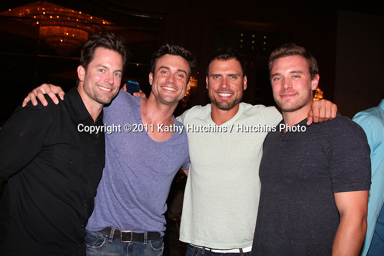 LOS ANGELES - AUG 26:  Michael Muhney, Daniel Goddard, Joshua Morrow, Billy Miller attending the Young & Restless Fan Dinner 2011 at the Universal Sheraton Hotel on August 26, 2011 in Los Angeles, CA