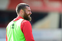 Lincoln City's Michael Bostwick during the pre-match warm-up<br /> <br /> Photographer Chris Vaughan/CameraSport<br /> <br /> The EFL Sky Bet League Two - Lincoln City v Cheltenham Town - Saturday 13th April 2019 - Sincil Bank - Lincoln<br /> <br /> World Copyright &copy; 2019 CameraSport. All rights reserved. 43 Linden Ave. Countesthorpe. Leicester. England. LE8 5PG - Tel: +44 (0) 116 277 4147 - admin@camerasport.com - www.camerasport.com