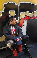 Mar 30, 2007; Martinsville, VA, USA; Nascar Nextel Cup Series driver Juan Pablo Montoya (42) during practice for the Goody's Cool Orange 500 at Martinsville Speedway. Martinsville marks the second race for the new car of tomorrow. Mandatory Credit: Mark J. Rebilas..