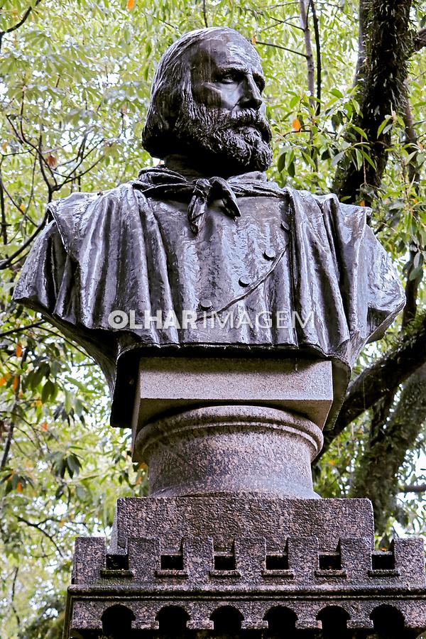 Busto de Giuseppe Garibaldi no Jardim da Luz. Sao Paulo. Foto © Manuel Lourenço.