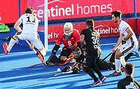 Blacksticks keeper Richard Joyce saves a goal. Pro League Hockey, Vantage Blacksticks v Germany. Nga Puna Wai Hockey Stadium, Christchurch, New Zealand. Friday 15th February 2019. Photo: Simon Watts/Hockey NZ